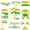 Stock Image : Object on India Independence day theme