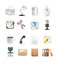 Stock Image : Office computer icons