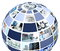 Stock Image : Office collage in globe shape