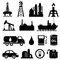 Stock Image : Oil industry icon set