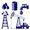 Stock Image : Oil industry icon  set  vector  illustration