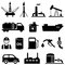Stock Image : Oil, petroleum and gasoline icons