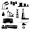 Stock Image : Oil and petroleum icon set.
