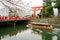 Stock Image : Okazaki canal with tori