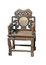 Stock Image : Old large wooden polished chinese chair