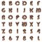 Stock Image : Old metal alphabet on white background