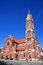 Stock Image : Old red church in downtown of Dallas