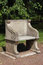 Stock Image : Old roman style armchair in the park