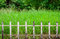 Stock Image : Old white fences