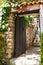 Stock Image : Old wooden door in Istanbul