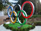 Stock Image : Olympic rings on the square in Sochi