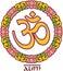 Stock Image : Om - Aum - Symbol in Lotus Frame