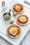 Stock Image : Omelette of quail eggs