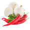Stock Image : Onion, chilli peppers and parsley