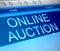 Stock Image : Online auction concept.