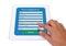 Stock Image : Online registration form on tablet.