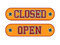 Stock Image : Open Closed