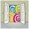 Stock Image : Open door