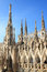 Openwork pinnacles at Milan Cathedral in Italy