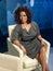 Stock Image : Oprah Winfrey wax statue