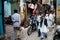 Stock Image : Optocht in Steeg in Varanasi