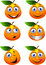 Stock Image : Orange cartoon character