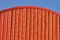 Stock Image : Orange curved roof.