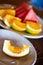 Stock Image : Orange on dish