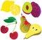 Stock Image : Organic Healthy Fruit Set