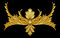 Stock Image : Ornament elements, vintage gold floral
