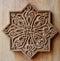 Stock Image : Ornament on wooden door