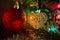 Stock Image : Ornamento de cristal de la decoración del árbol de navidad del corazón