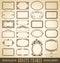 Stock Image : Ornate frames set (vector)