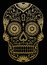 Stock Image : Ornate One Color Sugar Skull