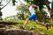 Stock Image : Outdoor running c