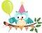 Stock Image : Owl Happy Birthday