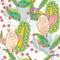 Stock Image : Owl Happy Life Seamless Pattern_eps