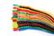 Stock Image : Pack of Colorful Velcro Strips
