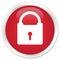 Padlock icon premium red round button