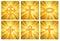 Stock Image : Page of Religious Symbols over Sunburst