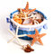 Stock Image : Pail of Seashells and Starfish