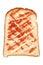 Stock Image :  Pain grillé de pain avec de la confiture de fraise