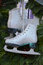 Stock Image : Pair of white skates