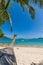 Stock Image : Palm tree on Bangtao beach. Thailand.