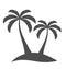 Stock Image : Palm trees on island