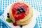 Stock Image : Pancakes with jam