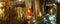 Stock Image : Panoramic of limestone stalagmites and stalactite, jenolan caves