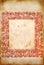 Stock Image : Papel viejo con el marco rojo