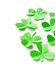 Stock Image : Paper green leaves of clover  St. Patrick's Day