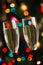 Stock Image :  Para szampańscy szkła